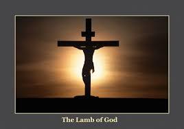 Lamb of God and cross